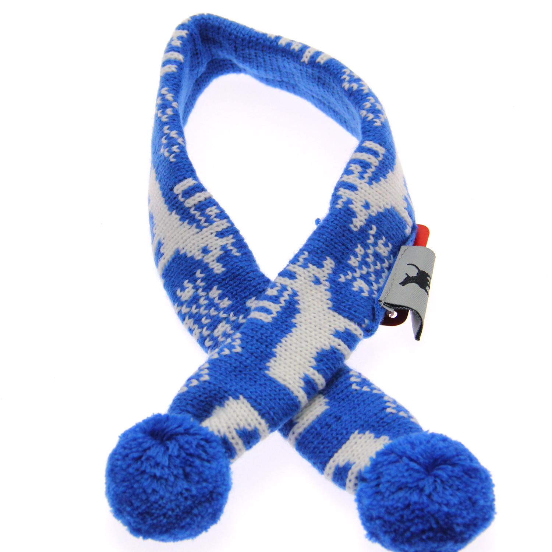 Worthy Dog Holiday Ski Dog Scarf - Reindeer Blue