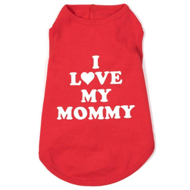 Worthy Dog I Love My Mommy Dog T-Shirt - Red