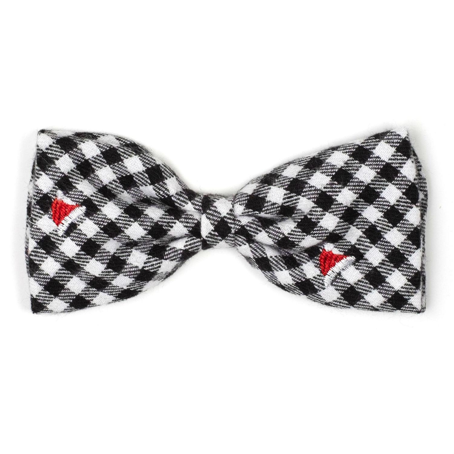 Worthy Dog Santa Hats Flannel Check Dog and Cat Bow Tie Collar Attachment