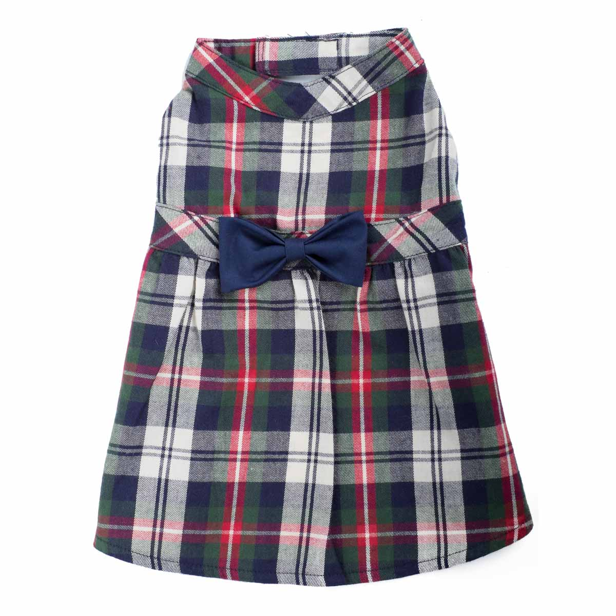 Worthy Dog Navy Plaid Dog Dress