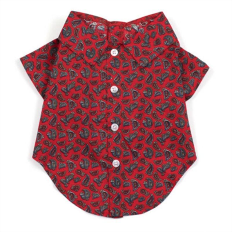 Worthy Dog Paisley Red Dog Shirt