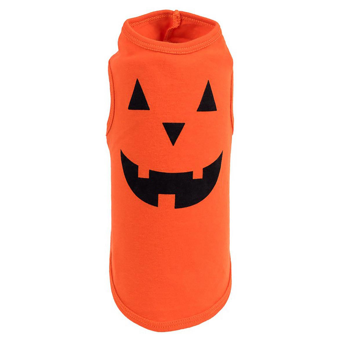 Worthy Dog Pumpkin Face Printed Dog Tank