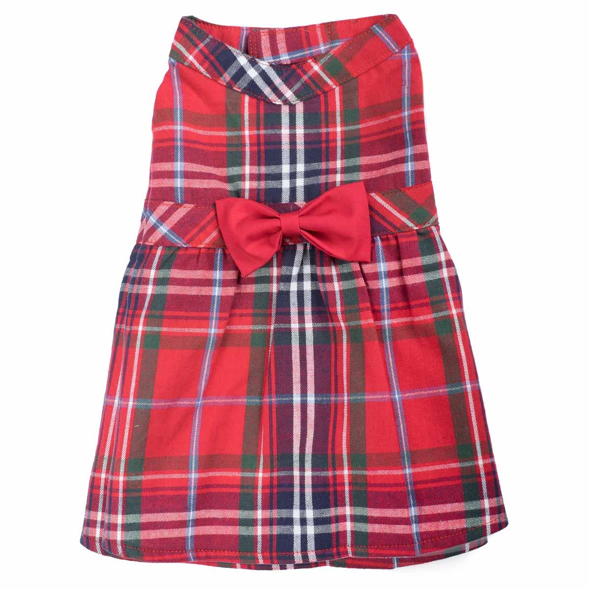 Worthy Dog Red Plaid Dog Dress