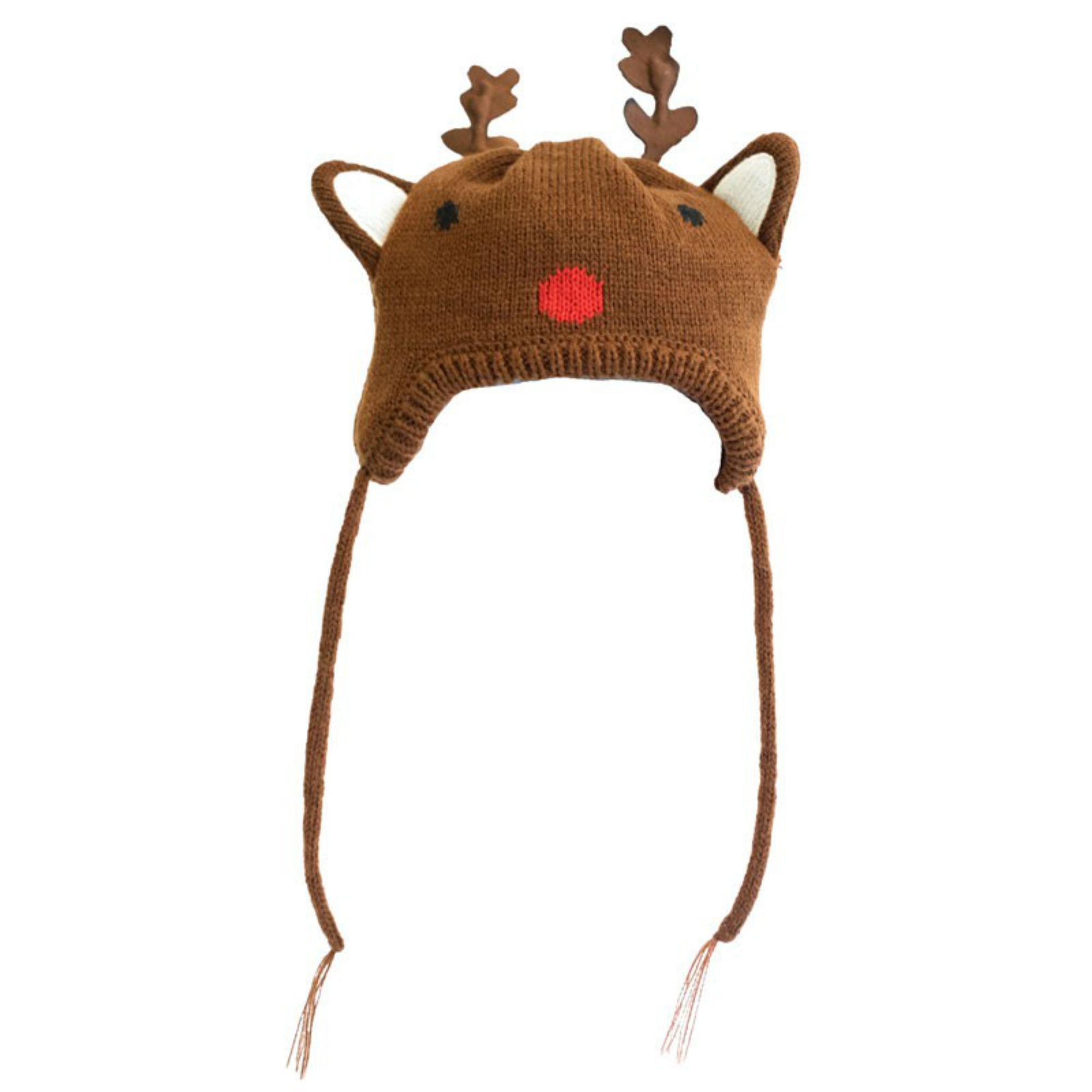Worthy Dog Reindeer Dog Hat - Brown