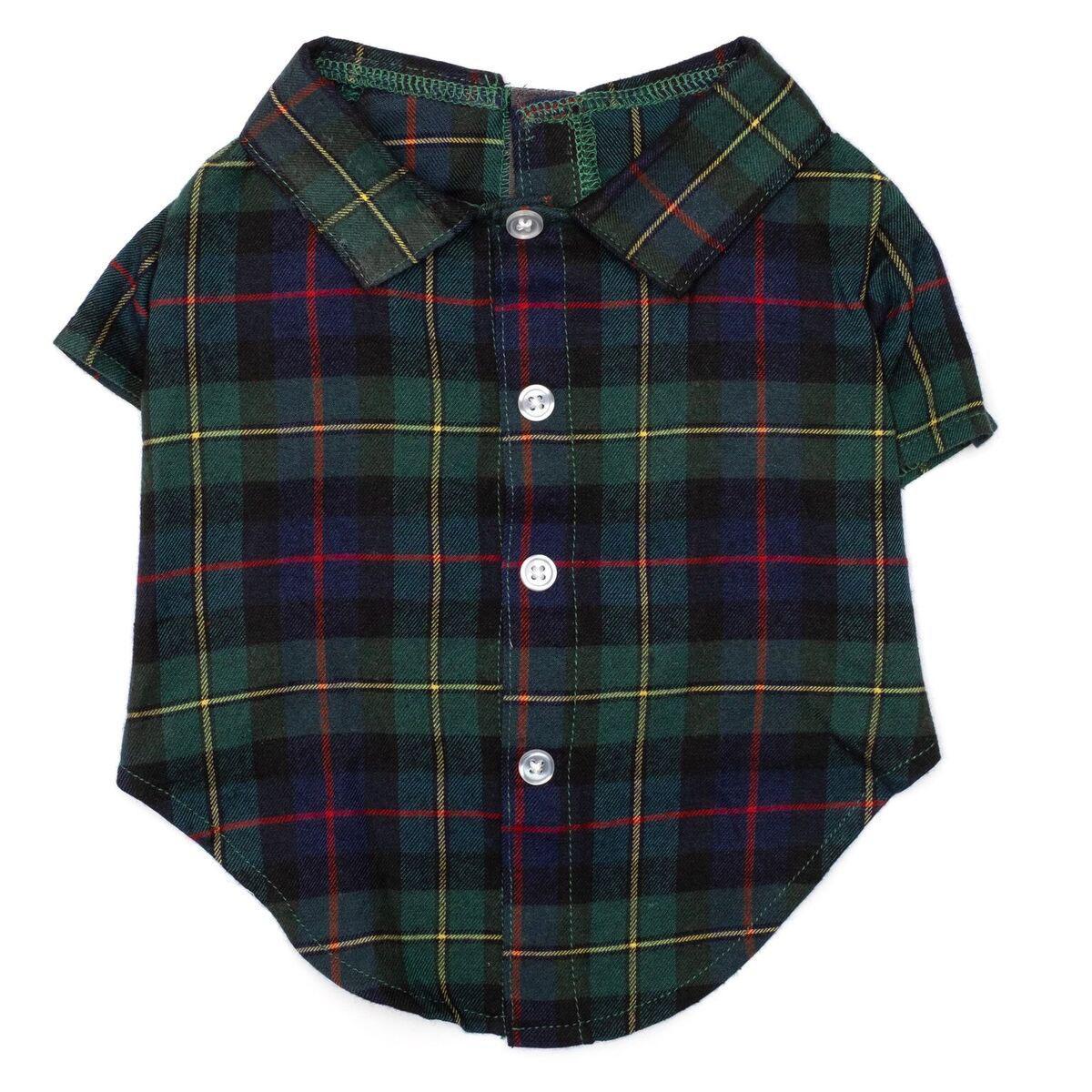 Worthy Dog Macleod Tartan Flannel Dog Shirt