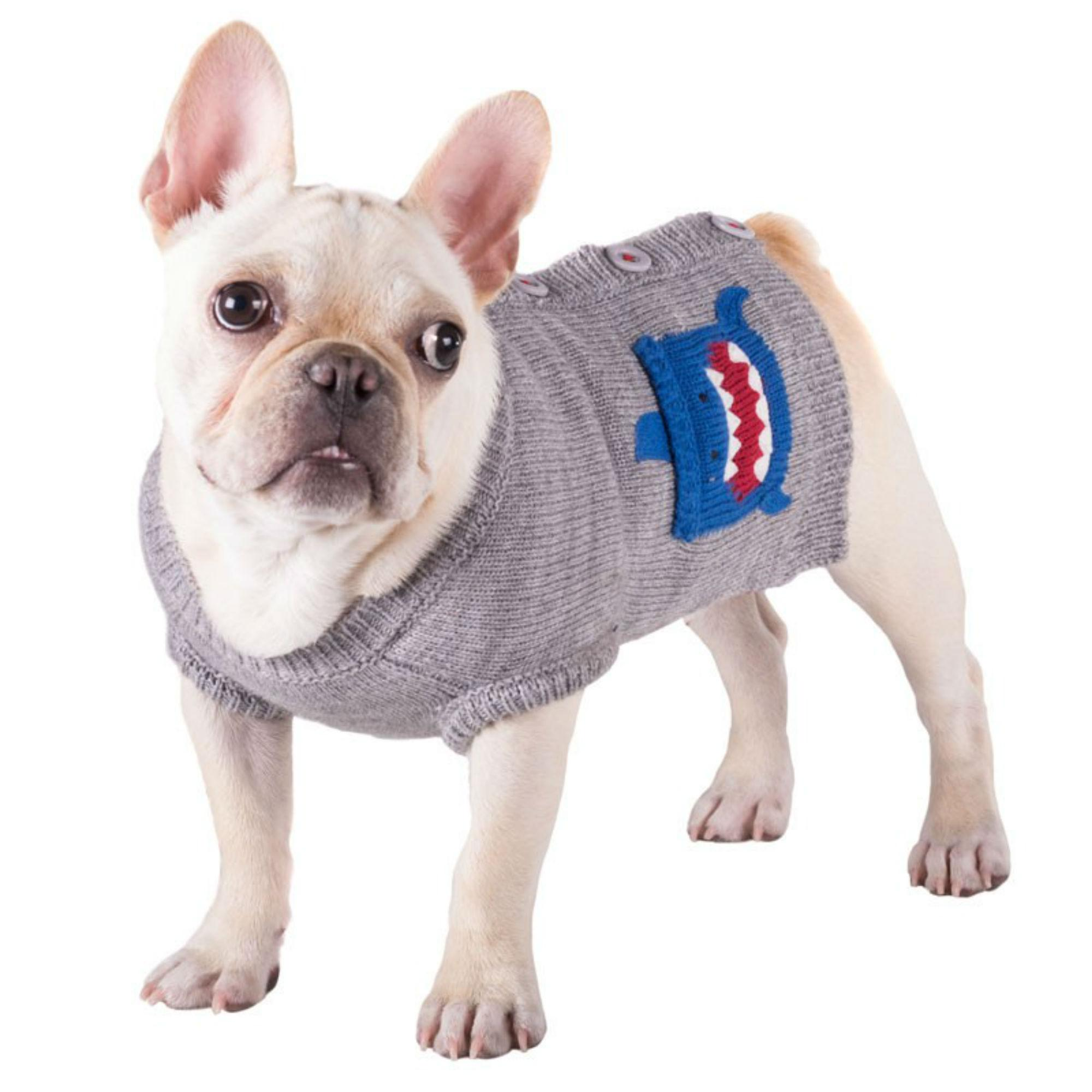 Worthy Dog Shark Dog Cardigan - Gray