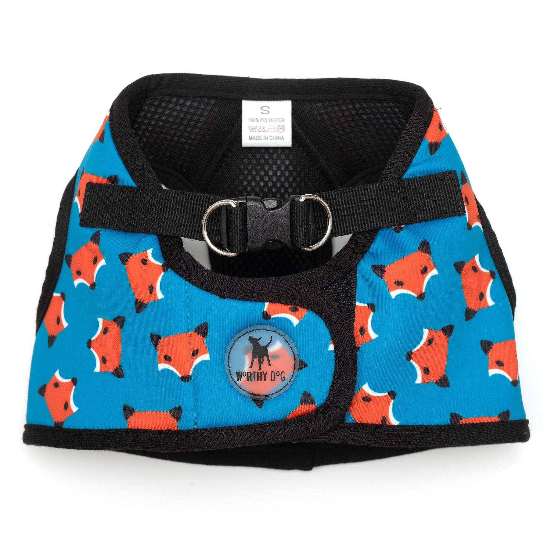 Worthy Dog Sidekick Foxy Printed Dog Harness