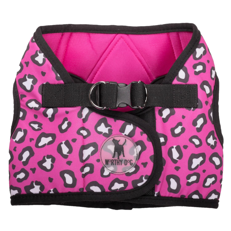 Worthy Dog Sidekick Pink Cheetah Printed Dog Harness
