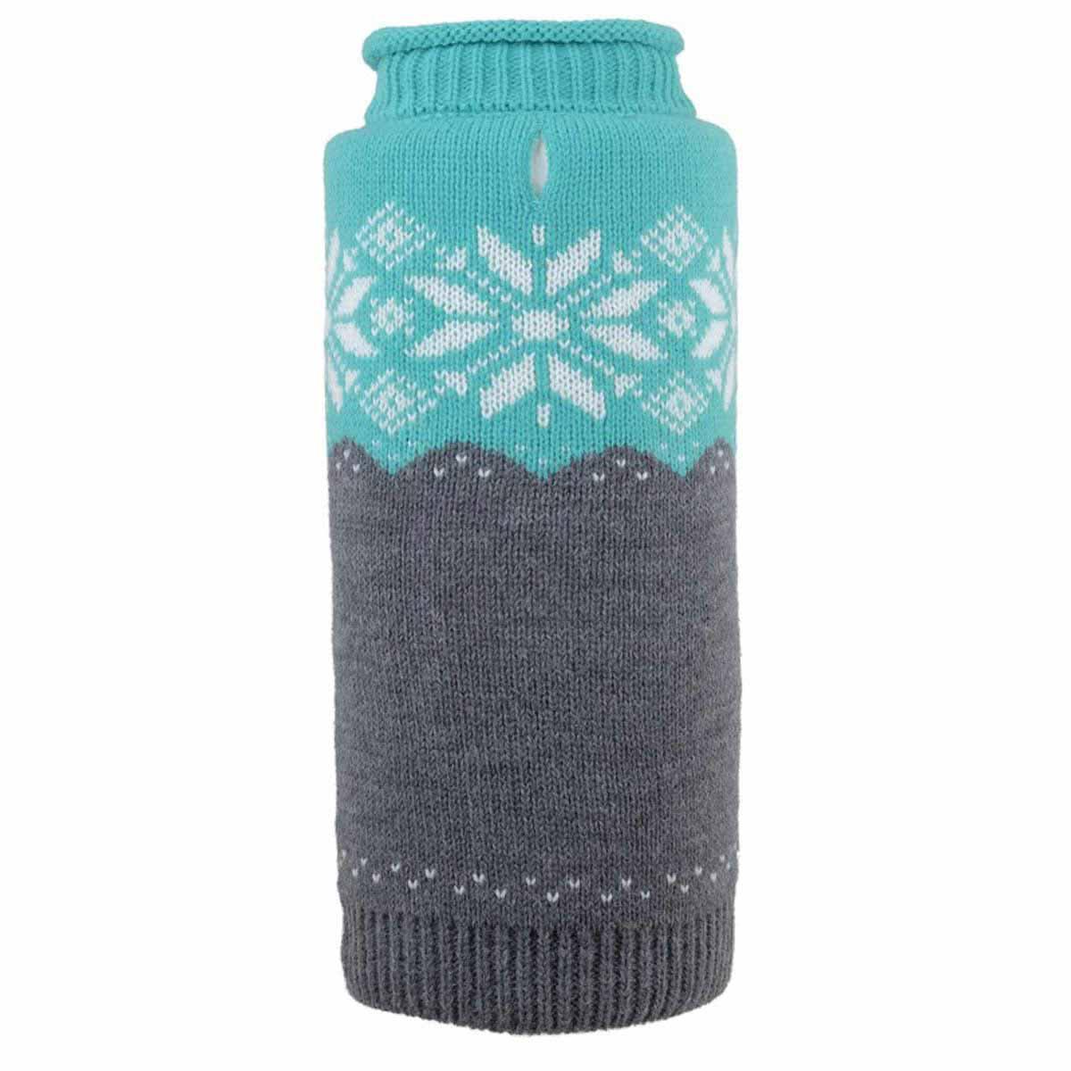 Worthy Dog Ski Lodge Dog Sweater - Teal