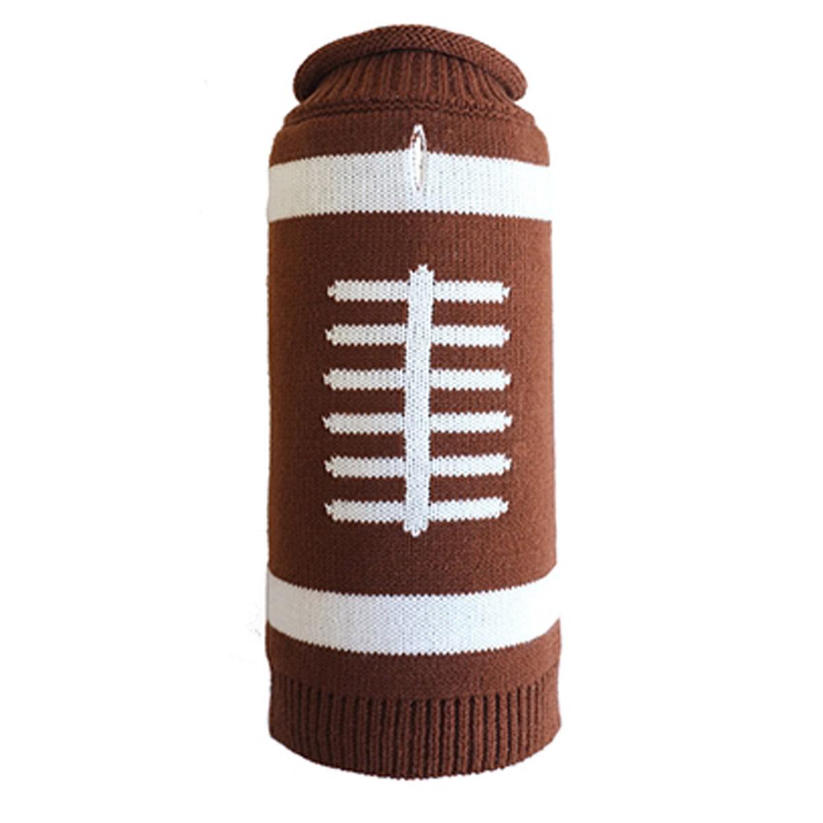 Worthy Dog Touchdown Dog Sweater - Brown