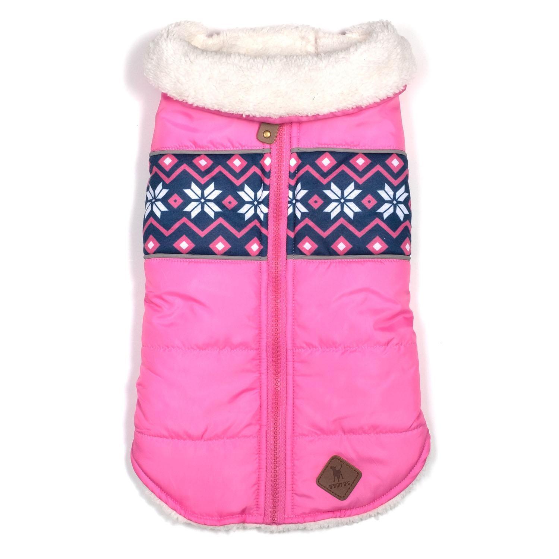 Worthy Dog Aspen Puffer Dog Jacket - Pink