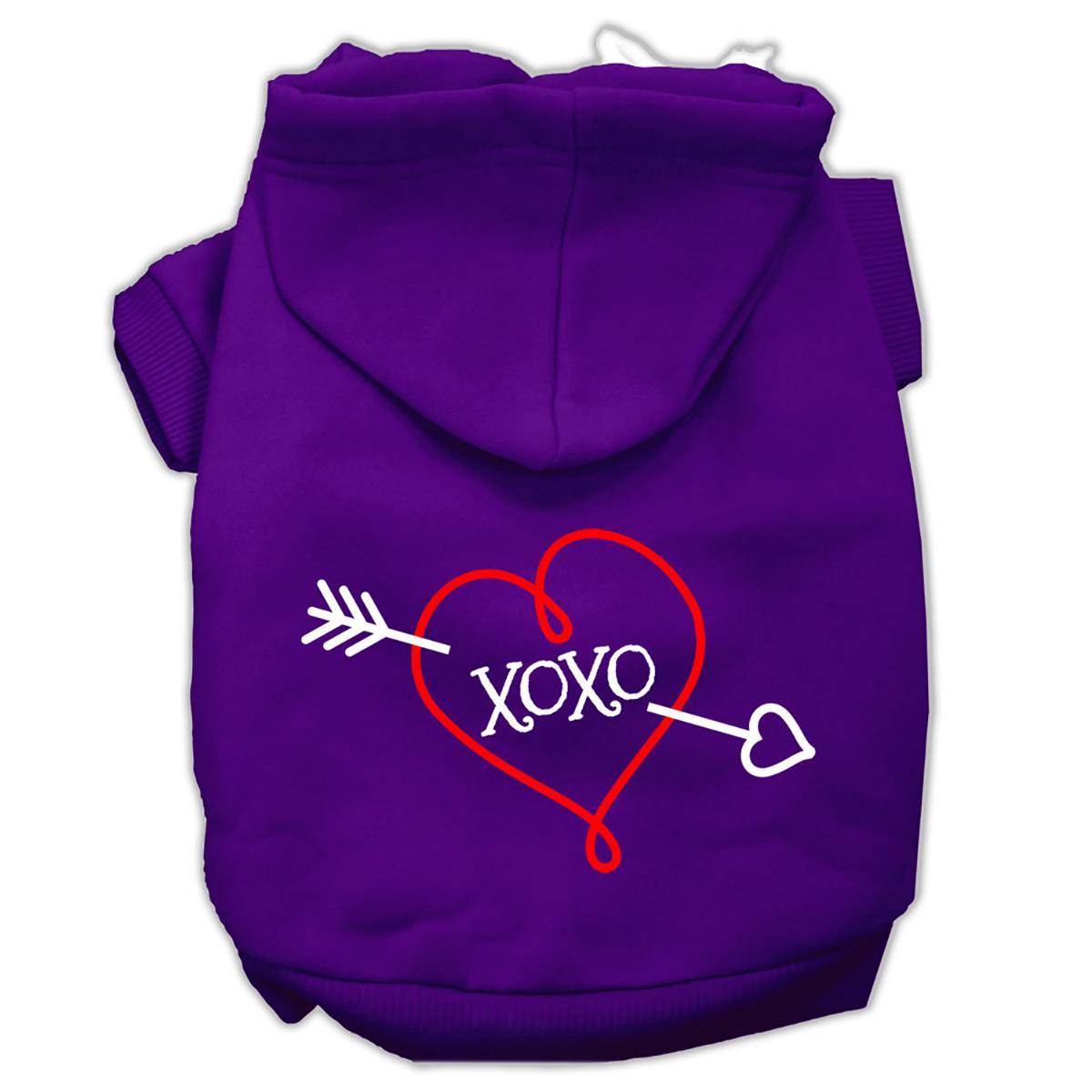 XOXO Dog Hoodie - Purple
