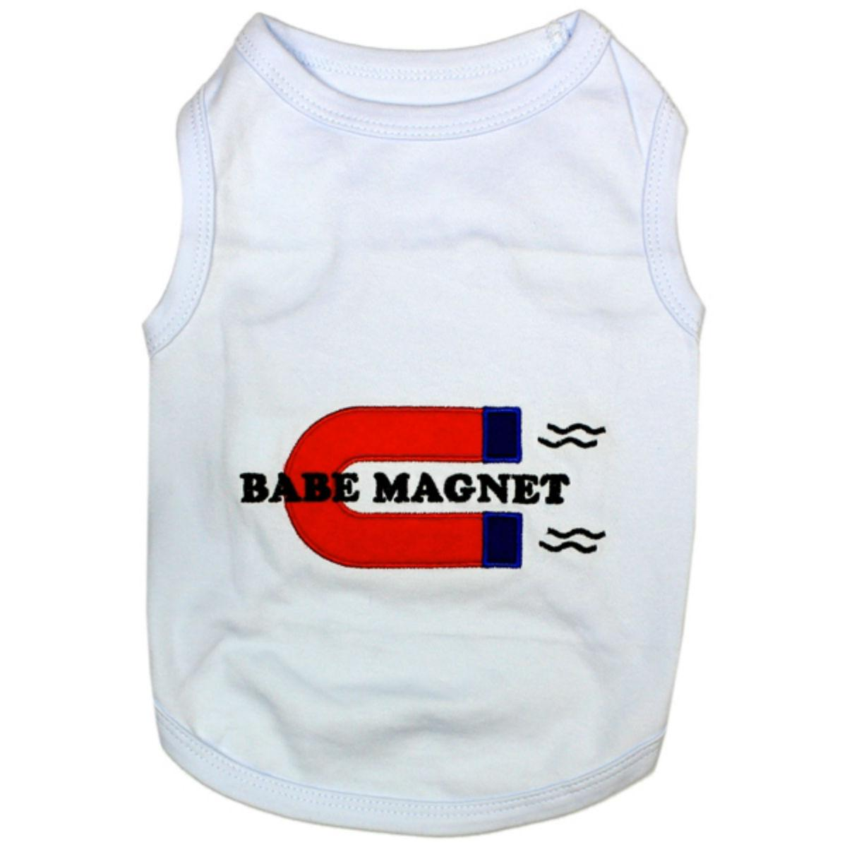 Babe Magnet Dog Tank by Parisian Pet - White