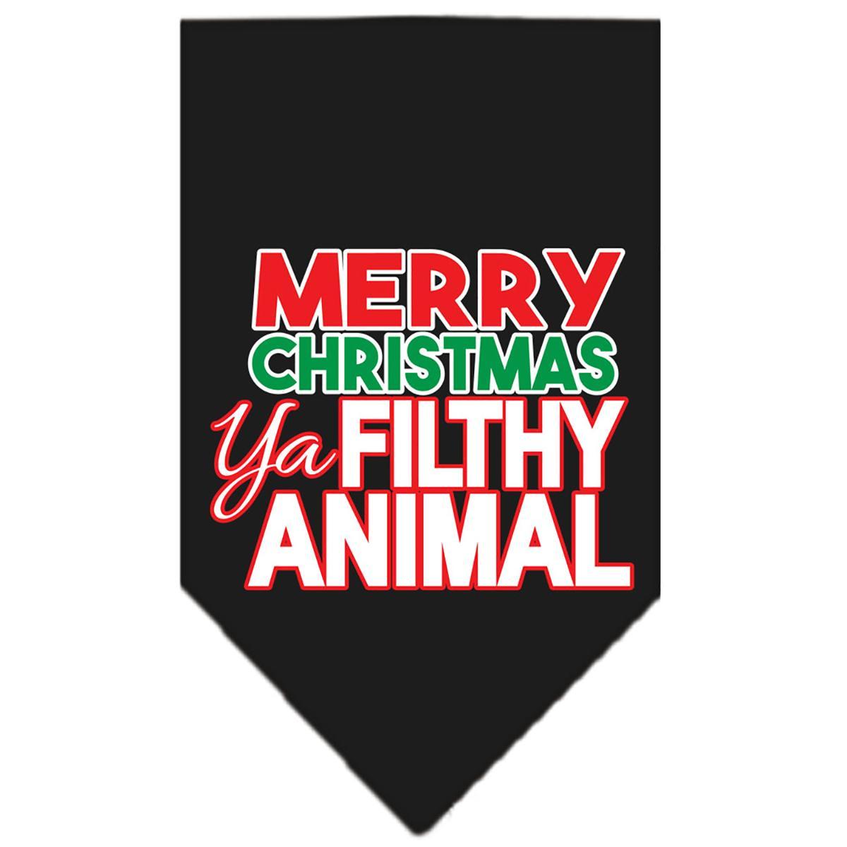 Ya Filthy Animal Dog Bandana - Black
