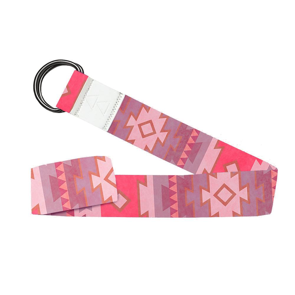 Yoga Strap - Tribal Coral