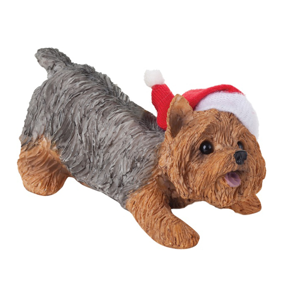 Yorkshire Terrier Christmas Ornament - Wearing Hat - Yorkshire Terrier Christmas Ornament - Wearin... BaxterBoo