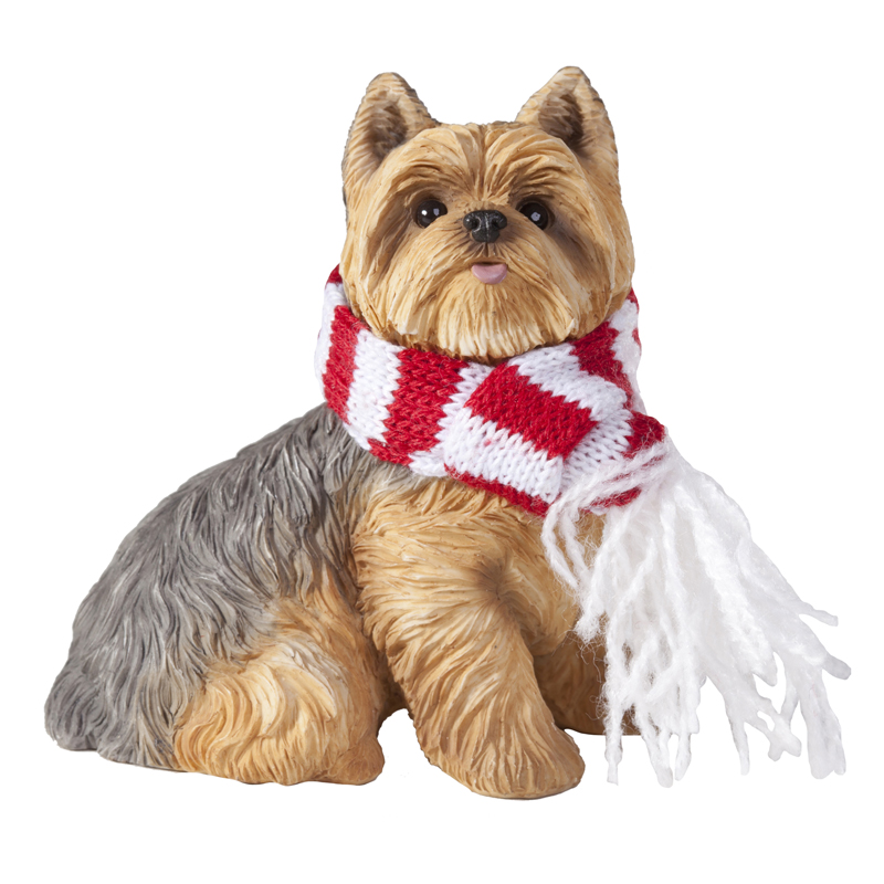 Yorkshire Terrier Christmas Ornament - Red and White Scarf - Yorkshire Terrier Christmas Ornament - Red An... BaxterBoo