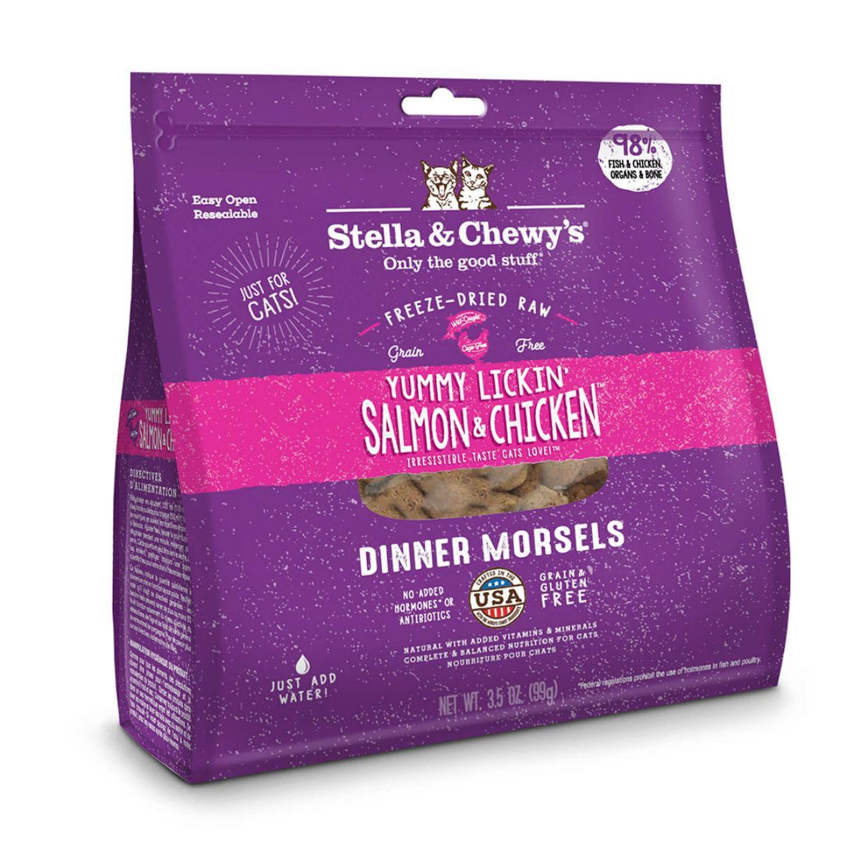 Stella & Chewy's Yummy Lickin' Salmon & Chicken Dinner Cat Food - Freeze Dried
