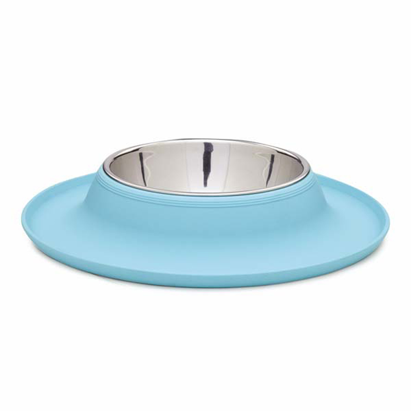 Crave Silicone Dog Bowl Aqua With Same Day Shipping