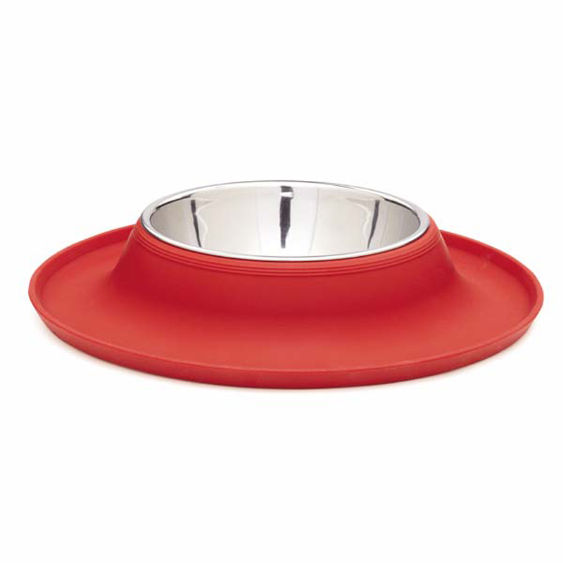 crave silicone dog bowl tomato