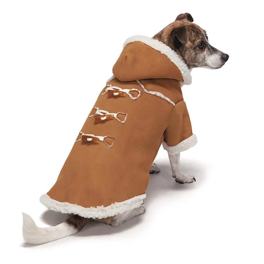 Zack and Zoey Elements Shearling Dog Coat - Chestnut