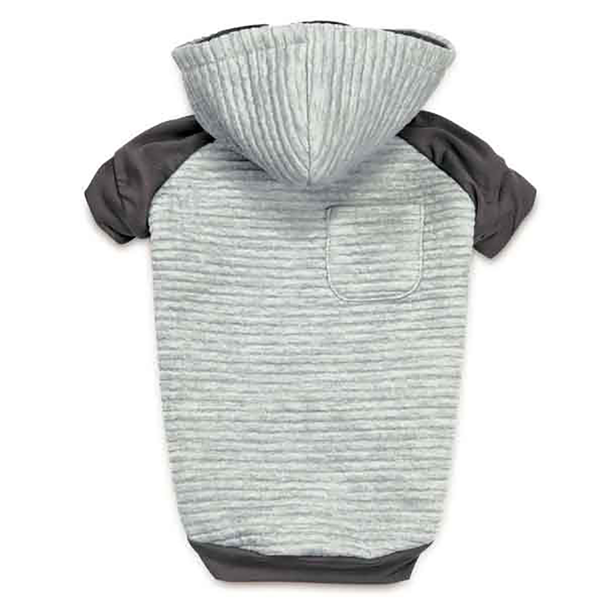 Zack and Zoey Elements Textured Stretch Dog Hoodie - Gray