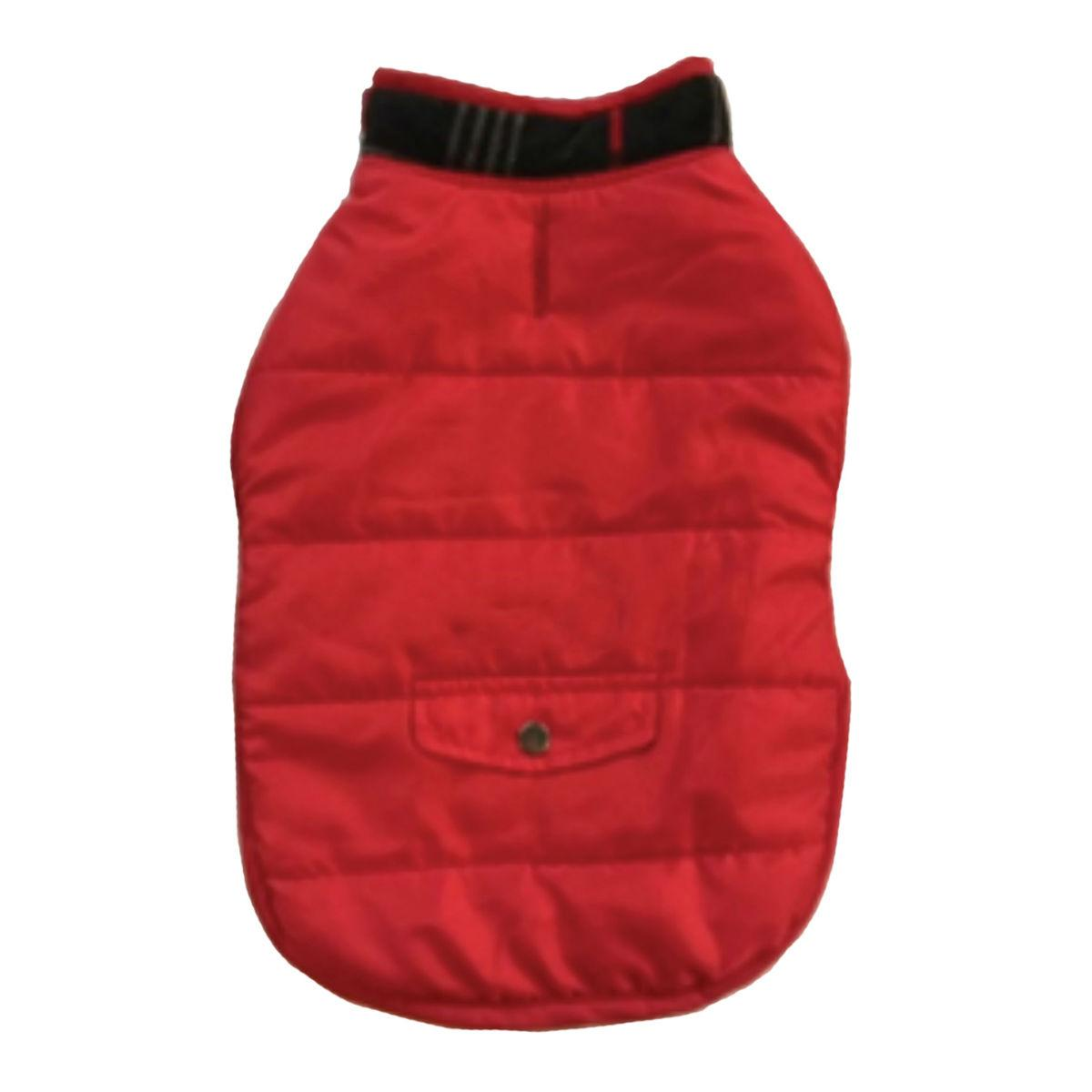Zack & Zoey Fleece Lined Quilted Dog Parka - Red