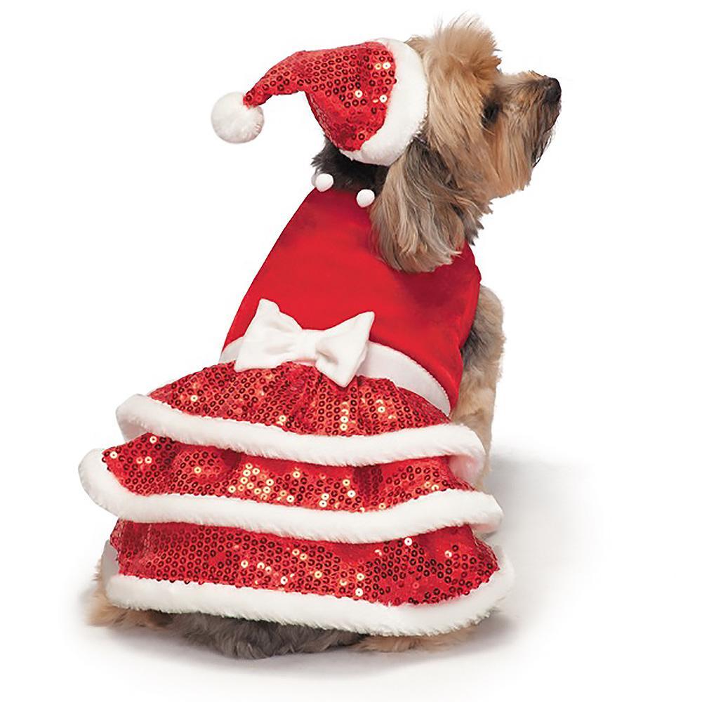 zack and zoey sparkle sequin velvet holiday dog dress