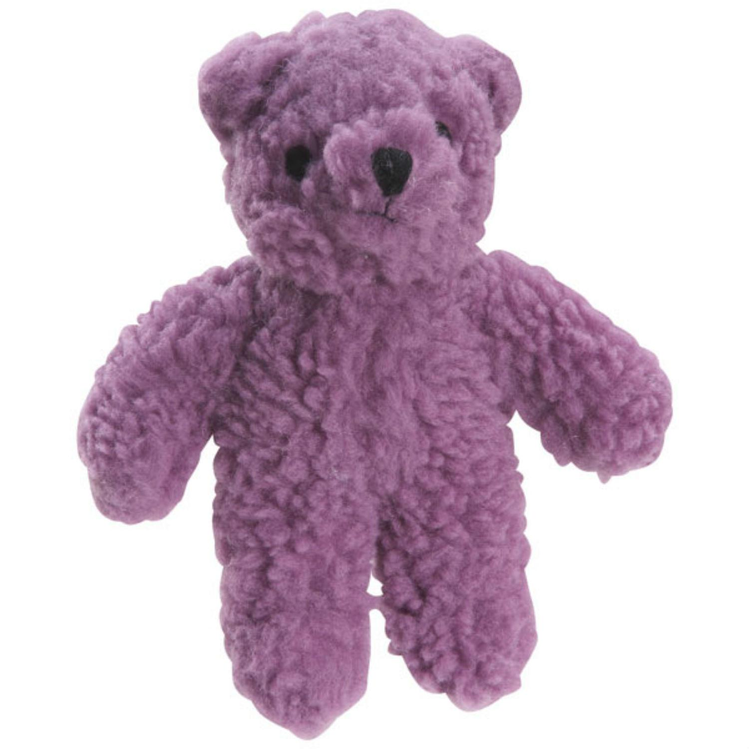 Zanies Berber Bear Dog Toy - Purple