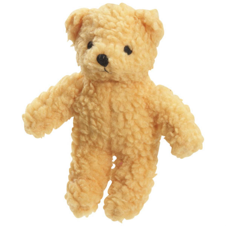 Zanies Berber Bear Dog Toy - Yellow