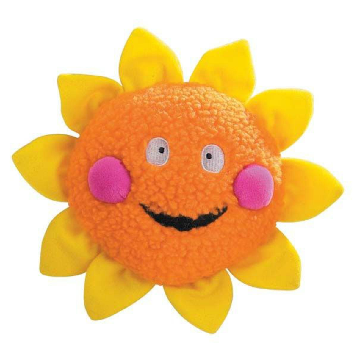 Zanies Celestial Smiles Dog Toy - Sun