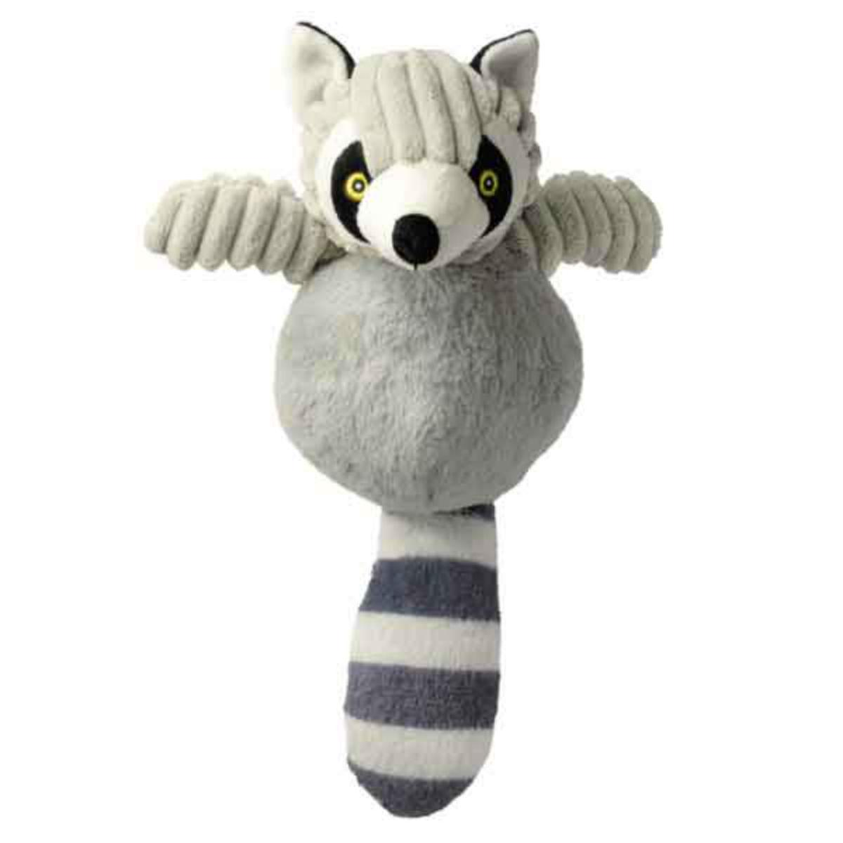 Zanies Country Crew Dog Toy - Raccoon