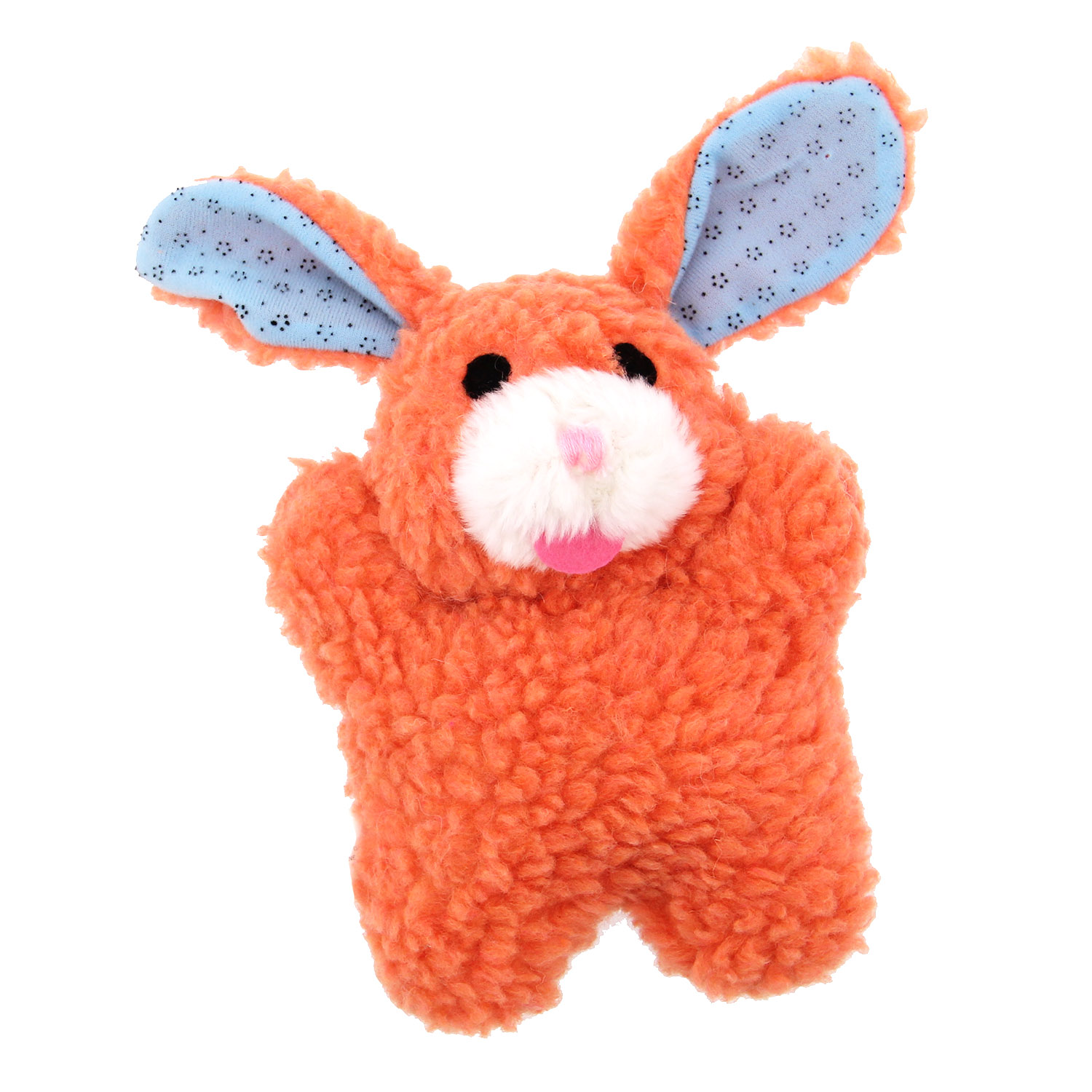 Zanies Cuddly Berber Babies Dog Toy - Orange Bunny