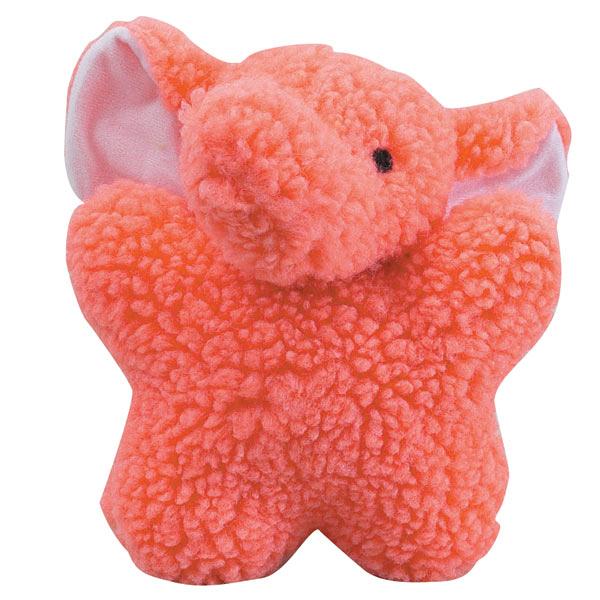 Zanies Cuddly Berber Babies Dog Toy - Pink Elephant