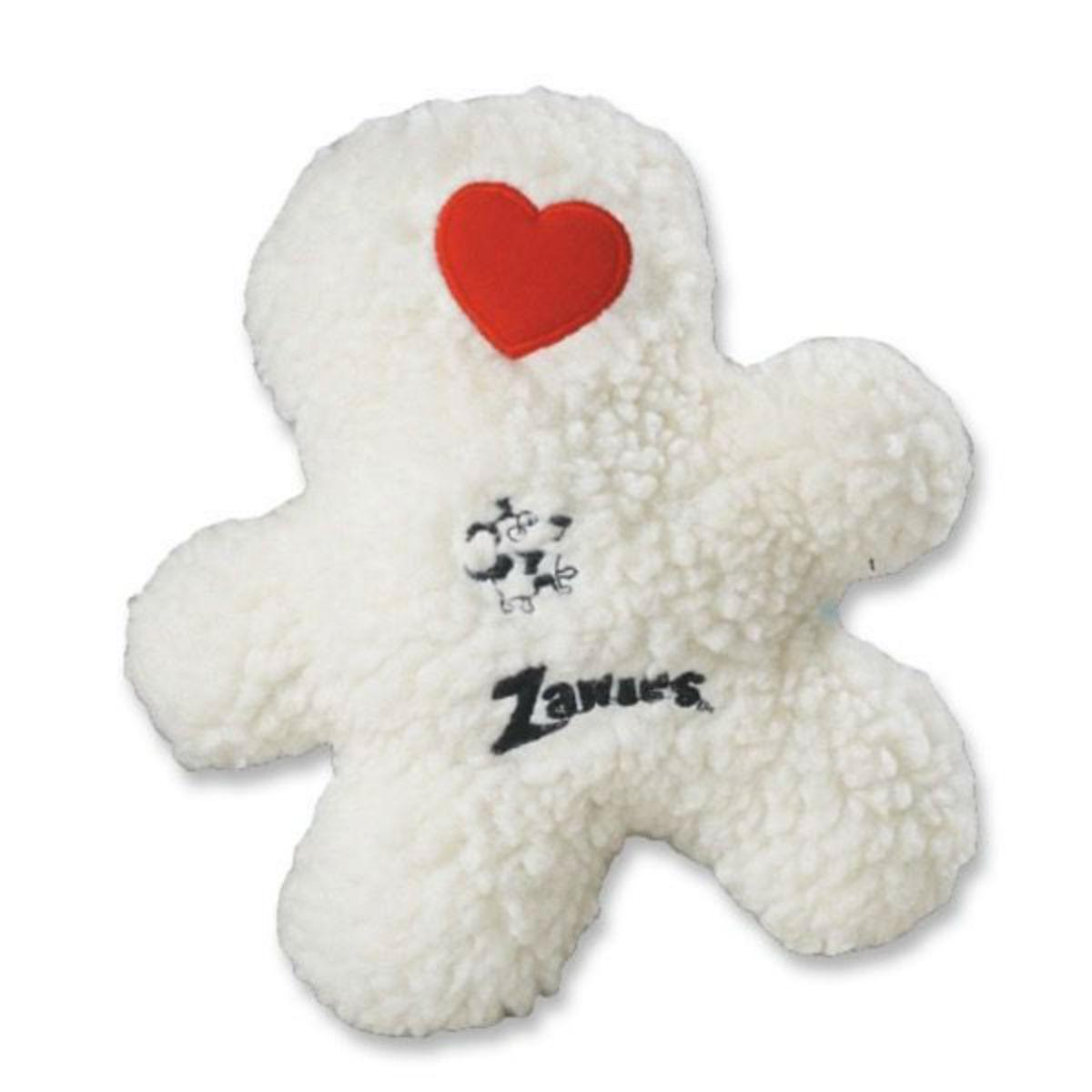 Zanies Embroidered Berber Boys Dog Toy - White