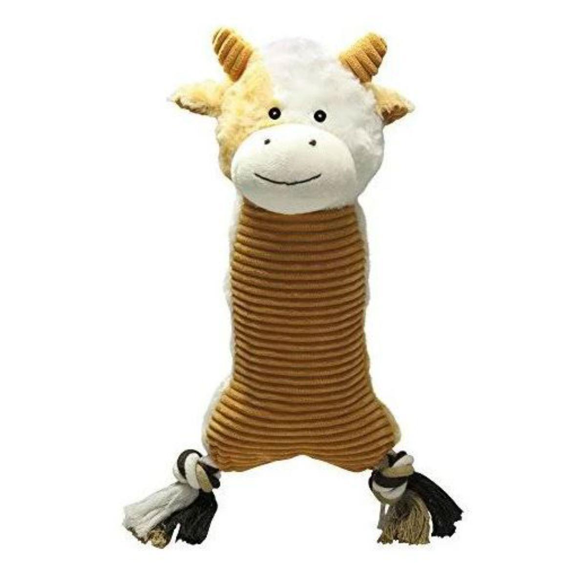 Zanies Farm Folks Dog Toy - Cow