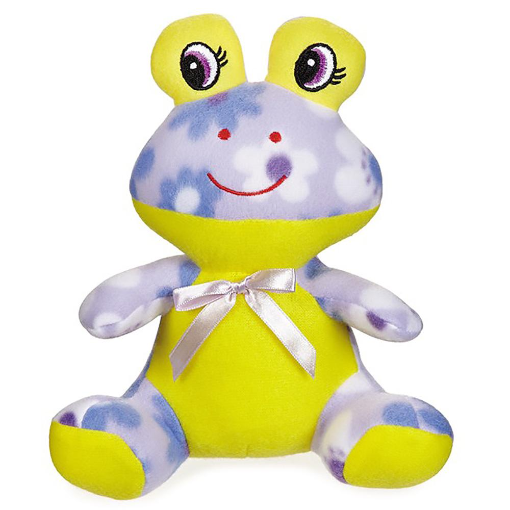 Zanies Fleece Cuddlers Dog Toy - Purple Frog