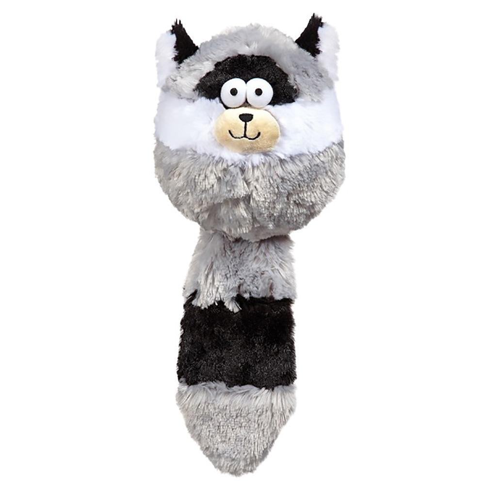 Zanies Funny Furry Fatties Dog Toy - Raccoon