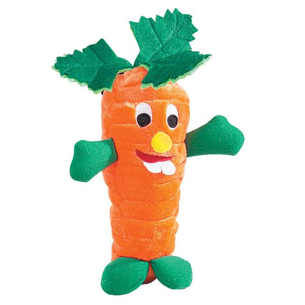 Zanies Giggling Veggie Dog Toy - Carrot