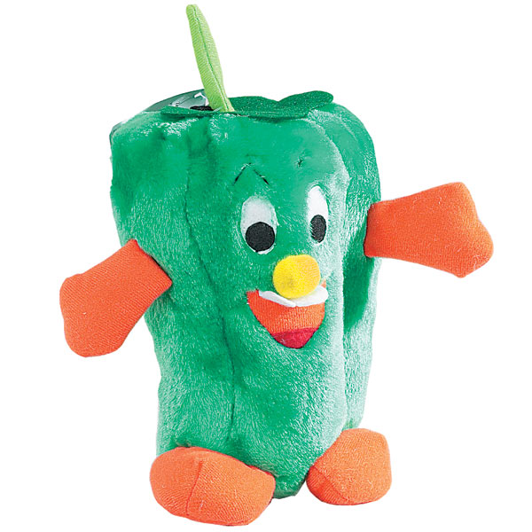 Zanies Giggling Veggie Dog Toy - Pepper