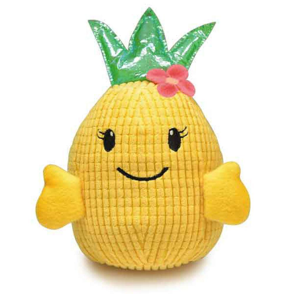 Zanies Hawaiian Breeze Pineapple Girl Dog Toy