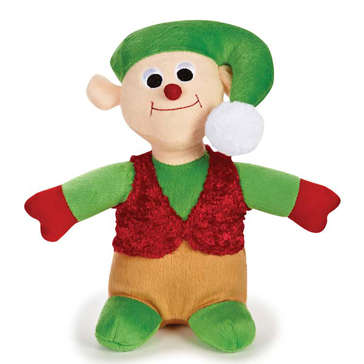 Zanies Holiday Friends Dog Toy - Elf
