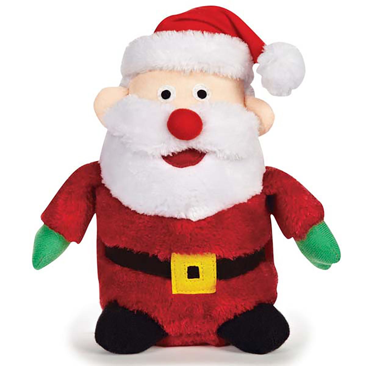 Zanies Holiday Friends Dog Toy - Santa