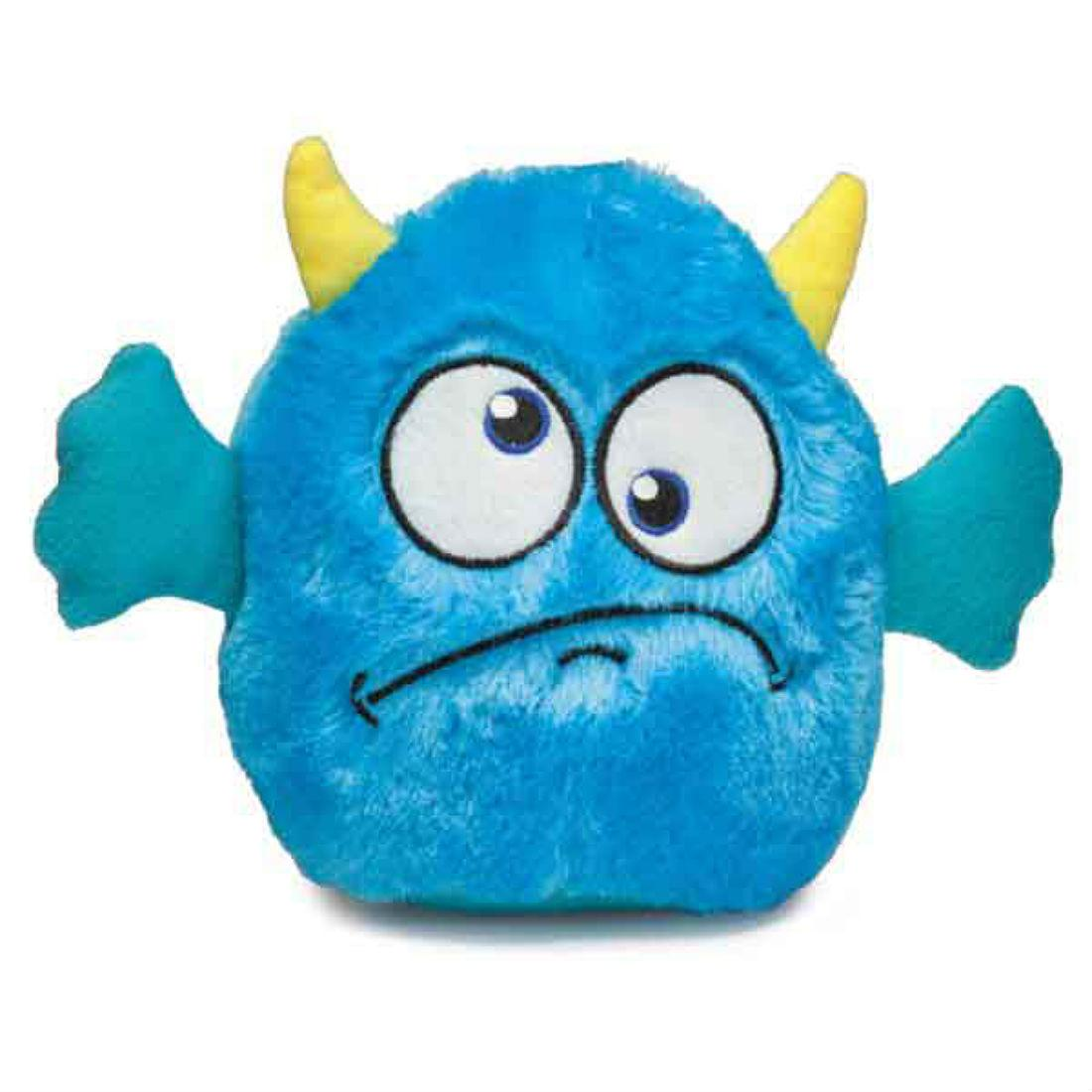 Zanies Rock Monster Plush Dog Toy - Blue