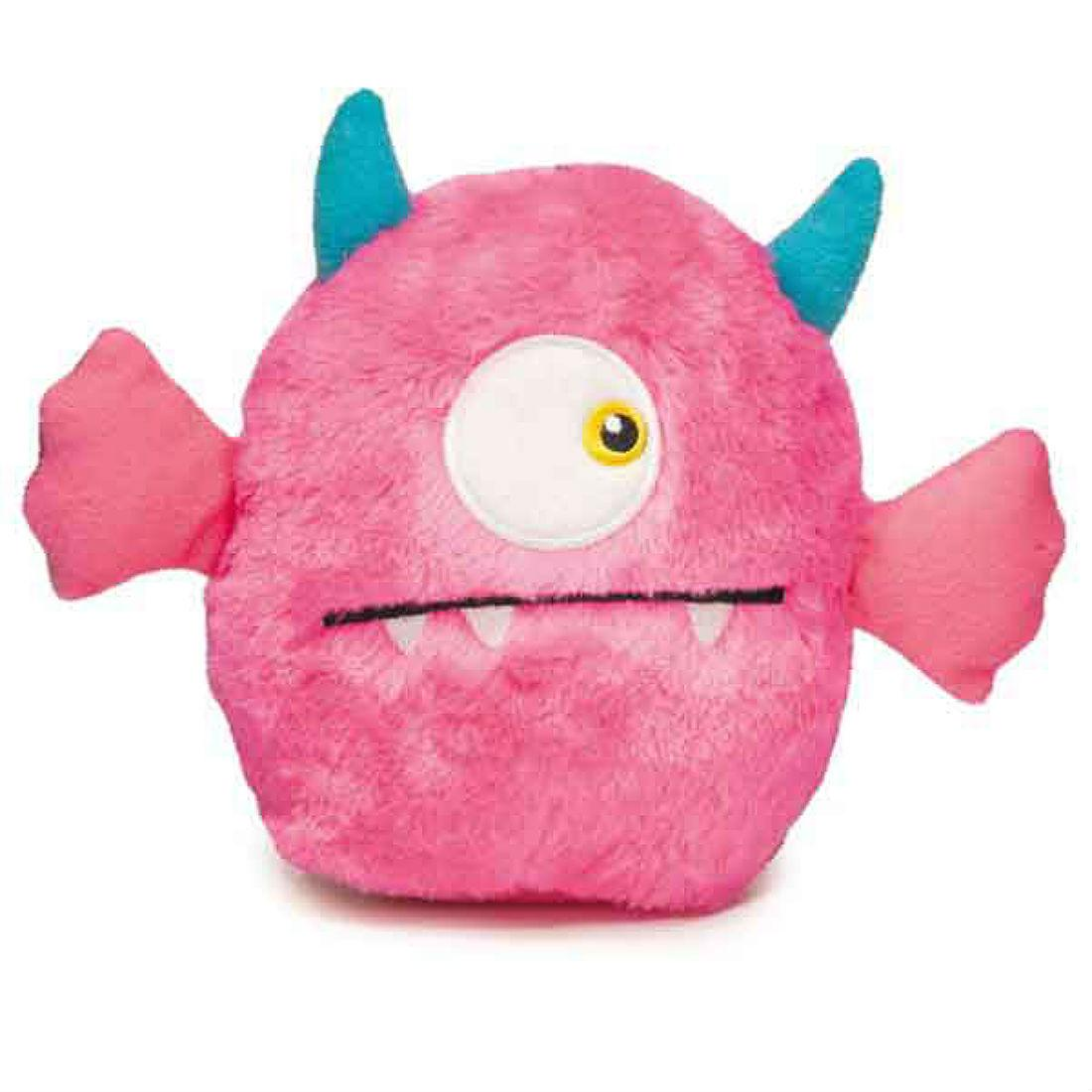 Zanies Rock Monster Plush Dog Toy - Pink