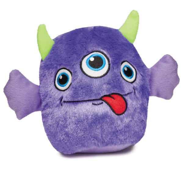 Zanies Rock Monster Plush Dog Toy - Purple