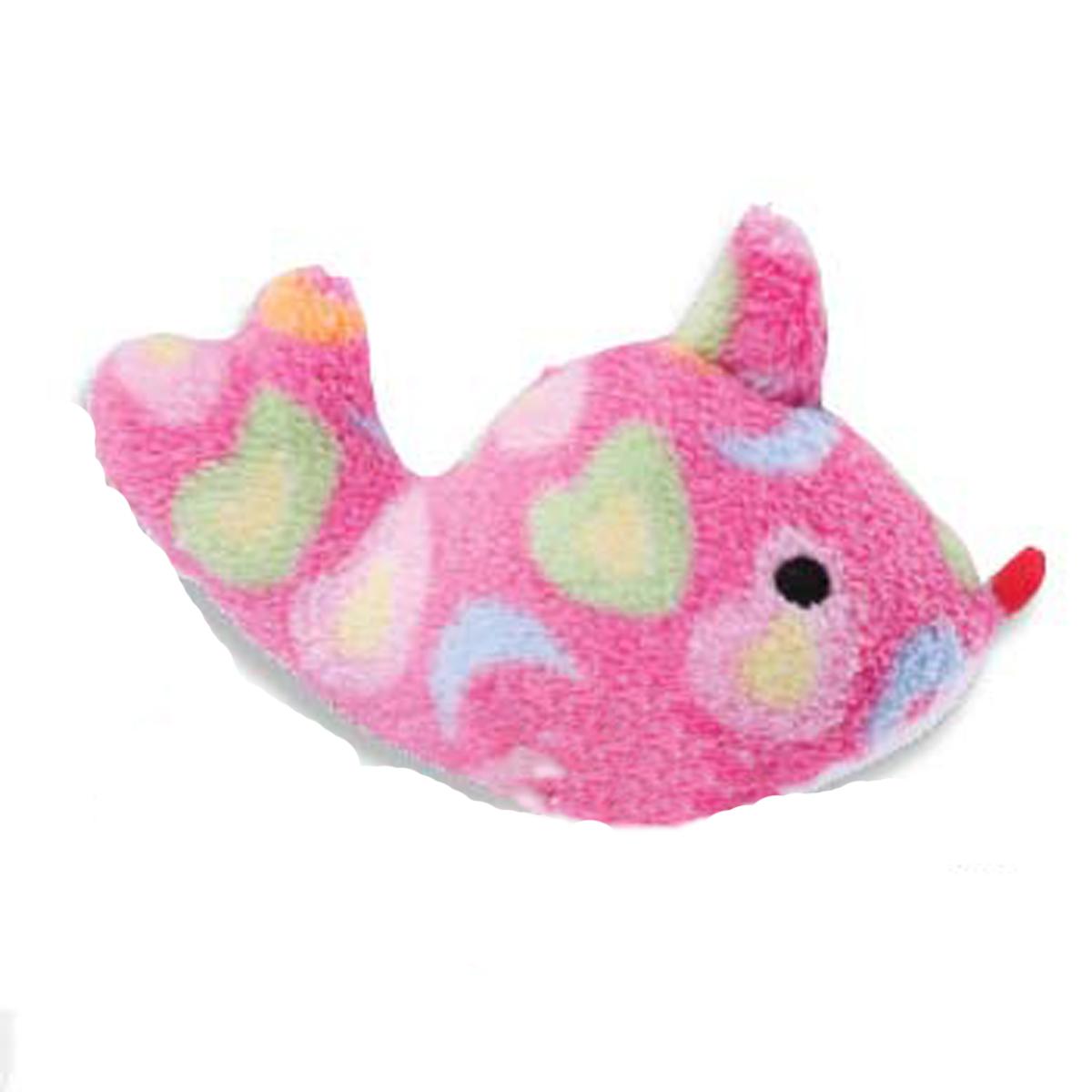 Zanies Sea Charmers Dog Toy - Pink Fish