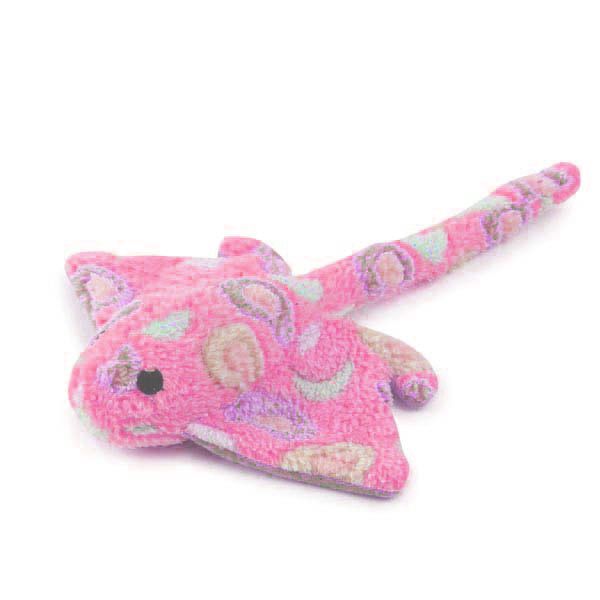 Zanies Sea Charmers Dog Toy - Pink Stingray