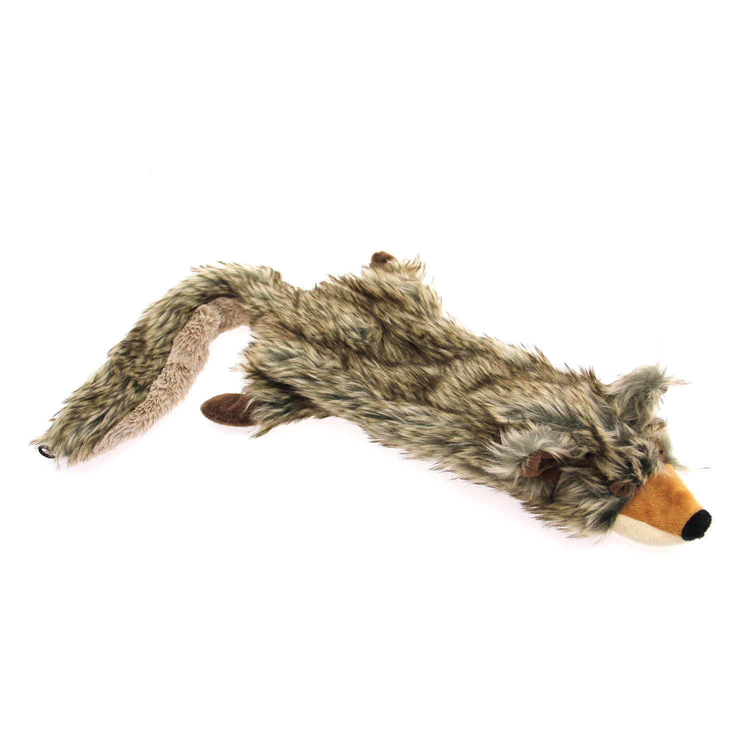 Zanies Unstuffies Critter Dog Toy - Coyote