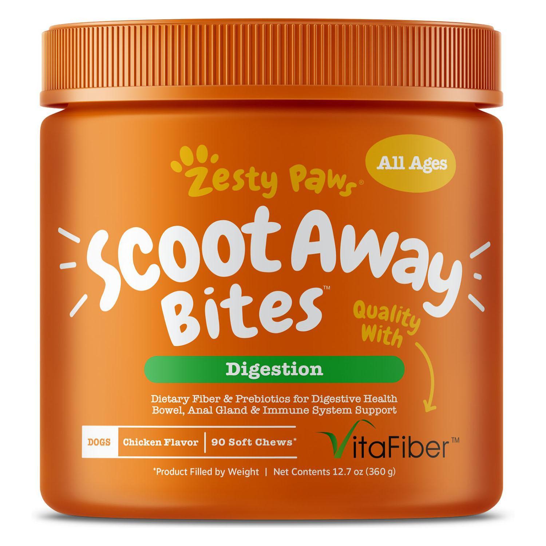 Zesty Paws Scoot Away Bites Dog Soft Chews - Chicken